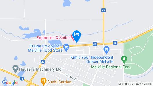 Sigma Inn & Suites Melville Map
