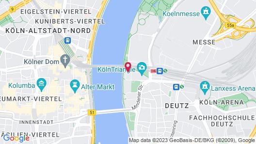 Hyatt Regency Cologne Map