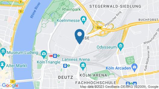 Dorint An der Messe Köln Map