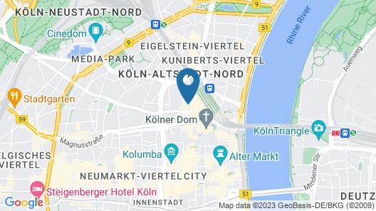 Hilton Cologne Map