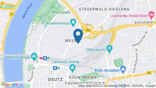Radisson Blu Hotel, Cologne Map