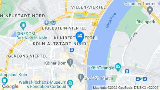 Cologne Marriott Hotel Map
