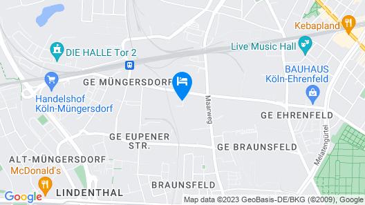 B&B Hotel Köln-Ehrenfeld Map
