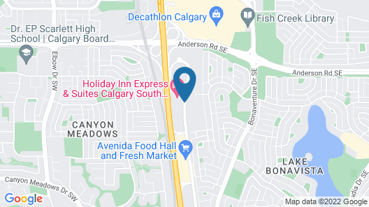 Holiday Inn Express Hotel & Suites Calgary S-Macleod Trail S Map