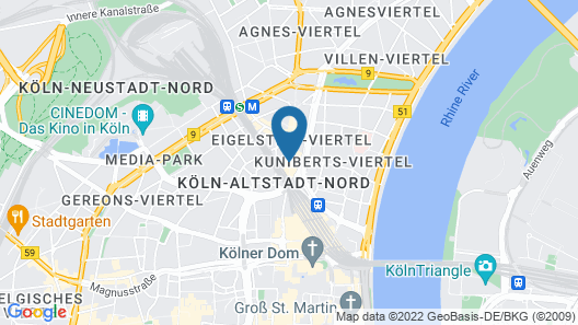 URBAN LOFT Cologne Map