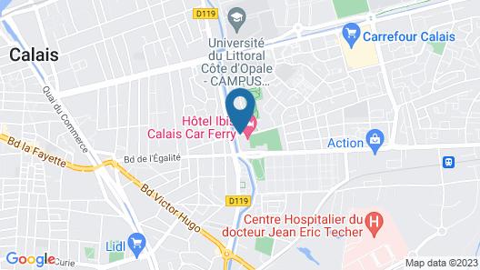 HOTEL & RESIDENCE Calais Car Ferry Map