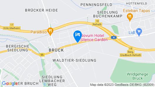 Novum Hotel Silence Garden Köln-Brück Map