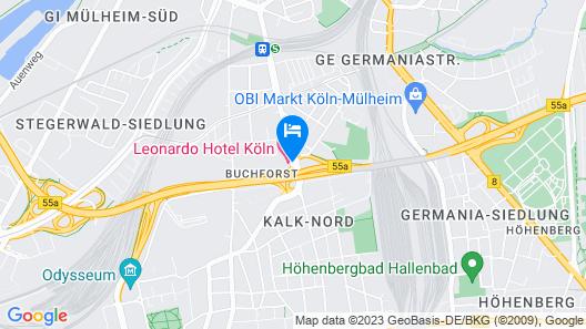 Leonardo Hotel Köln Map