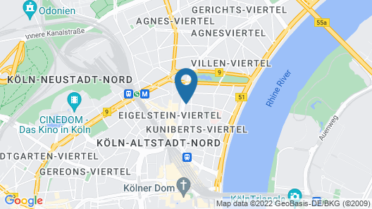 Courtyard by Marriott Cologne Map