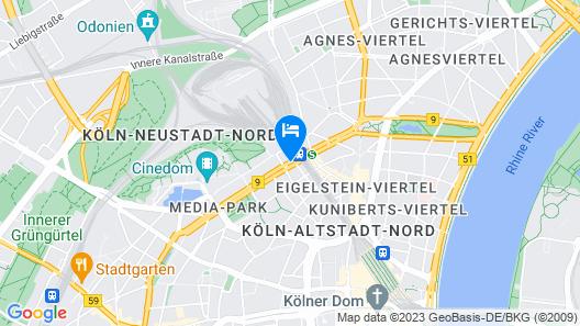 AZIMUT Hotel Cologne Map