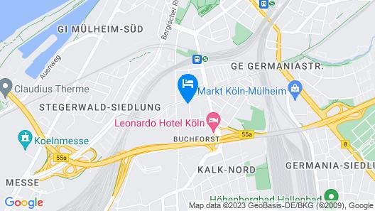 Messeapartment Buchforst Map