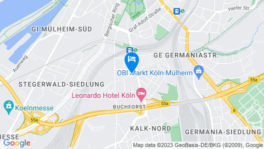 Refugium de Luxe Boardinghouse Messe/Deutz Map