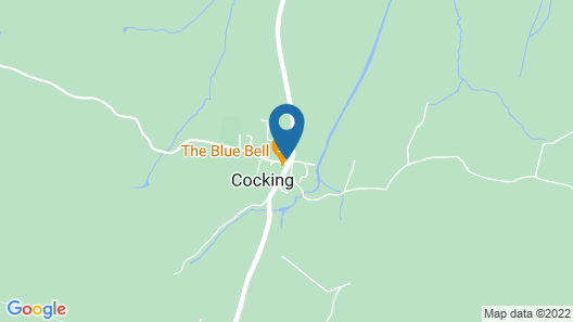 The Blue Bell at Cocking Map
