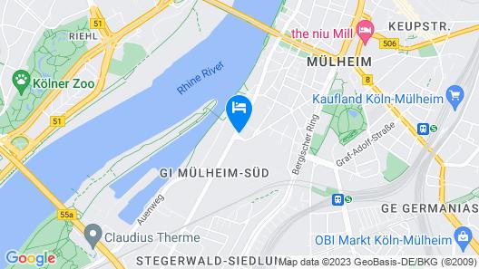 Design Apartment am Rhein und Messe Map