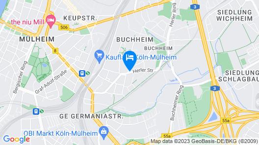Köln Messe Apartment Herler Map