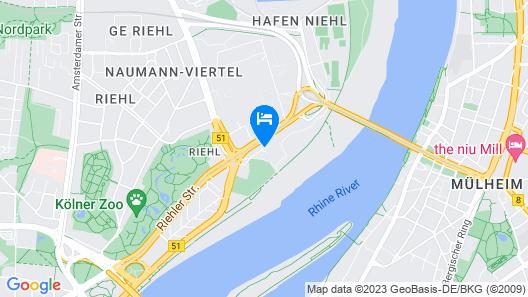 DJH City-Hostel Köln-Riehl Map