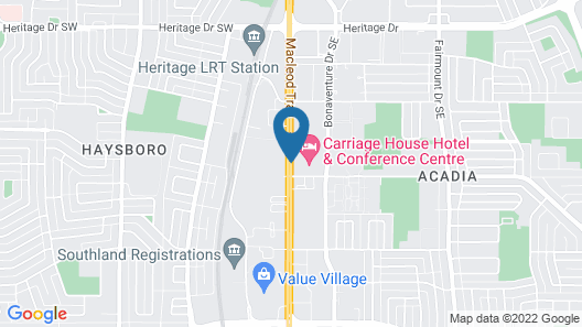 Carriage House Hotel & Conference Centre Map