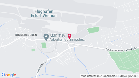 Airport Hotel Erfurt Map