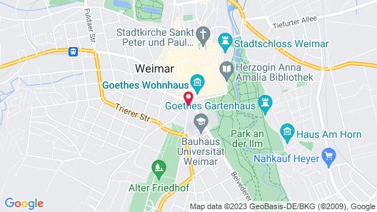 Amalienhof Hotel Weimar Map