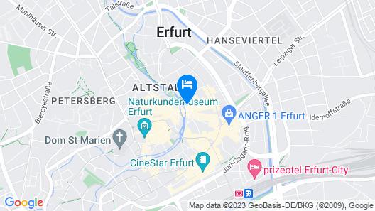 Hotel Krämerbrücke Erfurt Map