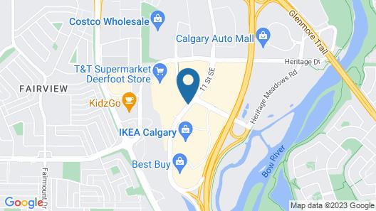 Sandman Hotel & Suites Calgary South Map