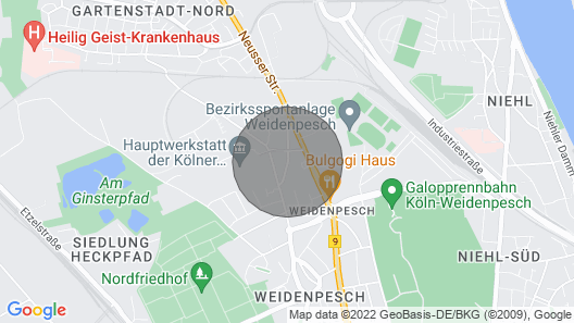 K48 Holiday House Cologne Weidenpesch 1 Map