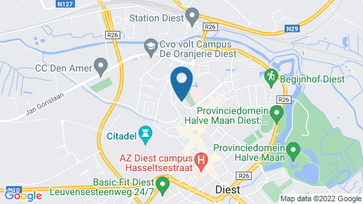 Hotel The Lodge Diest Map