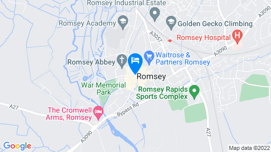 The White Horse Hotel Romsey Map