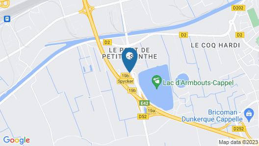 Premiere Classe Dunkerque Est - Armbouts Cappel Map