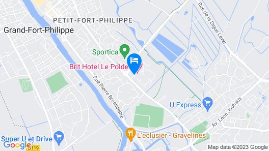 Brithotel Confort Le Polder Gravelines Map