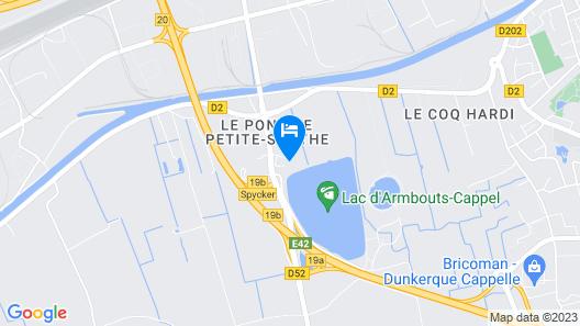 Best Western Hotel du Lac Dunkerque Map
