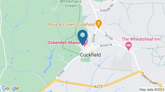 Ockenden Manor Hotel & Spa Map