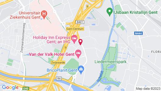 Holiday Inn Express Gent Map