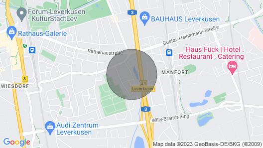 L11a Gemütliches 1 Zimmer Apartment in Leverkusen Map