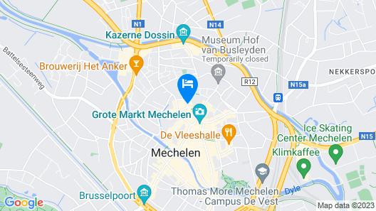 Hotel Den Grooten Wolsack Map