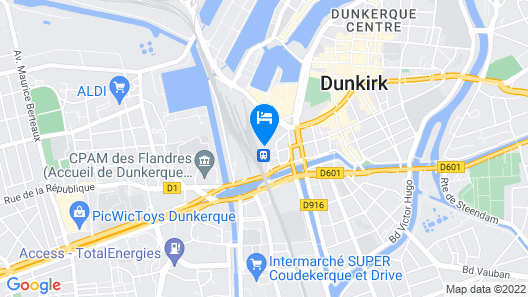 B&B Hotel Dunkerque Centre Gare Map