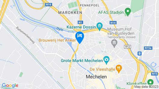 Hotel Brouwerij Het Anker Map