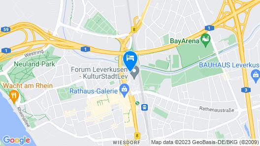 Best Western Leoso Hotel Leverkusen Map