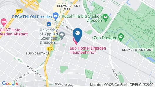 a&o Dresden Hauptbahnhof Map