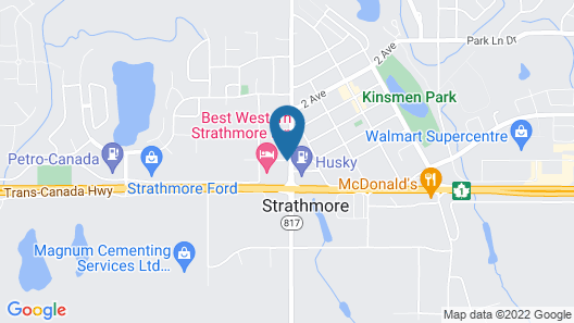 Super 8 by Wyndham Strathmore Map