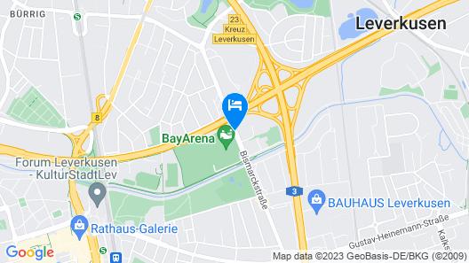 Lindner Hotel BayArena Map