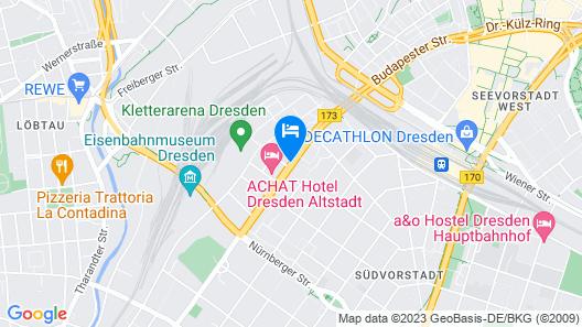 ACHAT Hotel Dresden Altstadt Map
