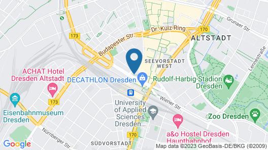 IntercityHotel Dresden Map