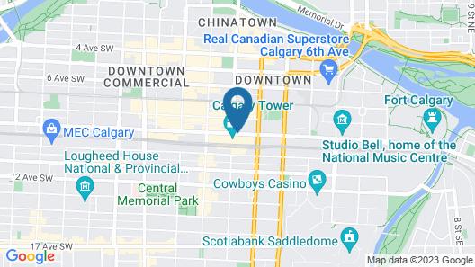 Calgary Marriott Downtown Hotel Map