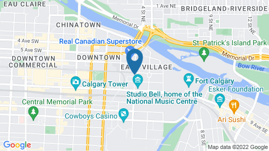 Homewood Suites by Hilton Calgary Downtown Map