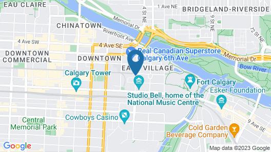 Hilton Garden Inn Calgary Downtown Map
