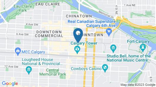 Hyatt Regency Calgary Map