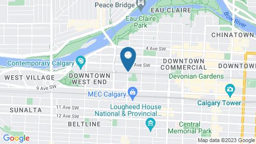Sandman Signature Calgary Downtown Hotel Map