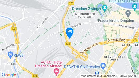 Hotel Elbflorenz Dresden Map