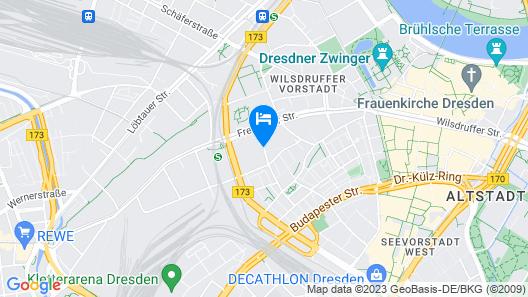 JUGENDGASTEHAUS DRESDEN - Hostel Map
